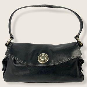 Marc Jacobs Black Leather Shoulder Bag Purse Push